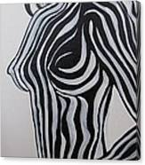 Zebra Body Paint Canvas Print