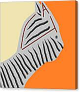 Zebra Cat Canvas Print