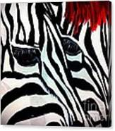 Zebra Couple Canvas Print