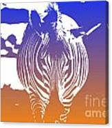 Zebra Crossing V6 Canvas Print