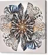 Zebra Flower Canvas Print