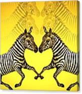 Zebra Heart Canvas Print