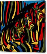 Zebra In The Jungle 2 Canvas Print