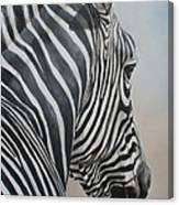 Zebra Look Canvas Print