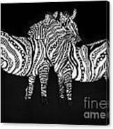Zebra Love 1 Canvas Print