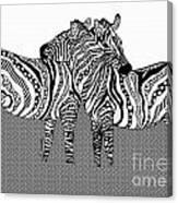 Zebra Love 10 Canvas Print