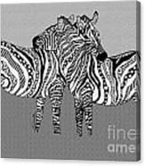 Zebra Love 12 Canvas Print