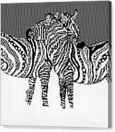Zebra Love 14 Canvas Print