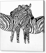 Zebra Love 2 Canvas Print