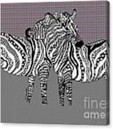Zebra Love 25 Canvas Print