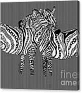 Zebra Love 26 Canvas Print