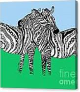 Zebra Love 6 Canvas Print