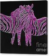 Zebra Love 7 Canvas Print