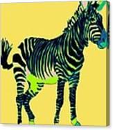 Zebra Pop Art Canvas Print