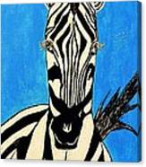 Zebra Portrait 5 Canvas Print