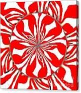 Zebra Red Swirling Kaleidoscope  Canvas Print