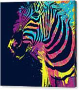Zebra Splatters Canvas Print