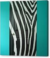 Zebra Stripe Mural - Door Number 1 Canvas Print