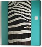 Zebra Stripe Mural - Door Number 2 Canvas Print