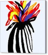 Zebra Vase Canvas Print