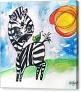 Zebra Zee  Canvas Print