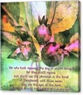 Zechariah 4 10 Canvas Print