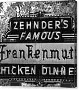 Zehnder's Black And White Canvas Print