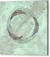 Zen Feather Circle I I Canvas Print