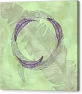 Zen Feather Circle I V Canvas Print