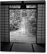 Zen Garden Walkway Canvas Print
