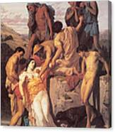 Zenobia Found By Shepherds Canvas Print