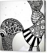 Zentangle Bird Canvas Print