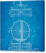 Zeppelin Navigable Balloon Patent Art 2 1899 Blueprint Canvas Print