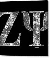 Zeta Psi - Black Canvas Print