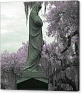 Ziba King Memorial Statue Side View Florida Usa Near Infrared Gr Canvas Print