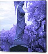 Ziba King Memorial Statue Side View Florida Usa Near Infrared Canvas Print