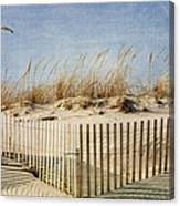 Zig Zag Beach Canvas Print