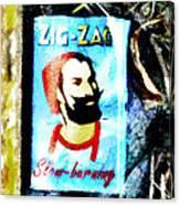 Zig Zag Double Wide Canvas Print