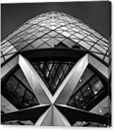 Zigzag (the  Gherkin) Canvas Print