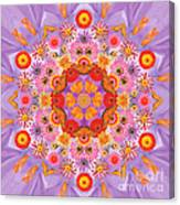 Zinna Flower Mandala Canvas Print
