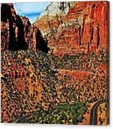 Zion Hairpin Canvas Print