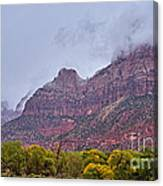 Zion In Clouds Canvas Print