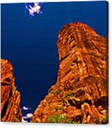 Zion National Park Oil On Canvas Canvas Print