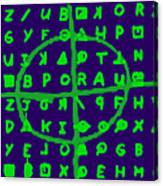 Zodiac Killer Code And Sign 20130213p128 Canvas Print