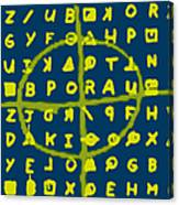 Zodiac Killer Code And Sign 20130213p68 Canvas Print