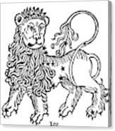 Zodiac Leo, 1482 Canvas Print