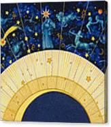 Zodiac Moon Canvas Print