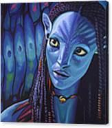 Zoe Saldana As Neytiri In Avatar Canvas Print