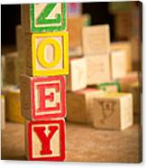 Zoey - Alphabet Blocks Canvas Print