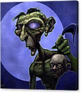 Zombie Head-hunter Canvas Print
